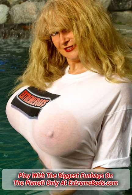 Big Tits In A Tight Wet T-shirt At Extreme Bods